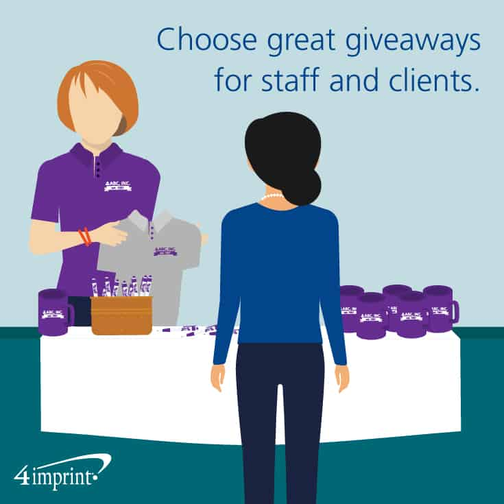 Choose great company anniversary gifts and giveaways for staff and clients.