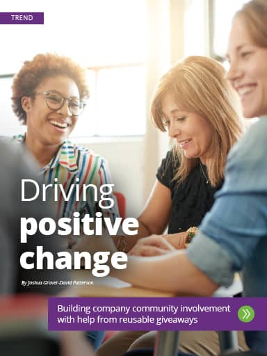 Thumbnail graphic for amplify winter 2020 story Trend: Driving Positive Change.