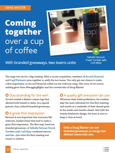 Swag Master thumbnail: Coming together over a cup of coffee