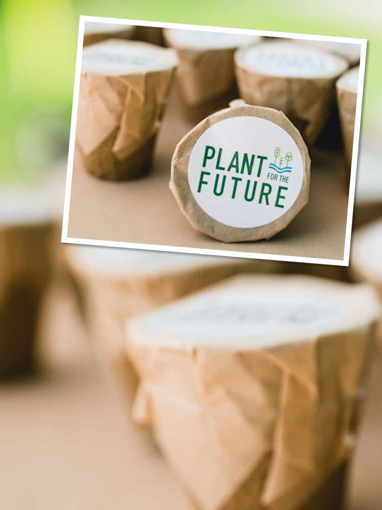 A branded growable planter