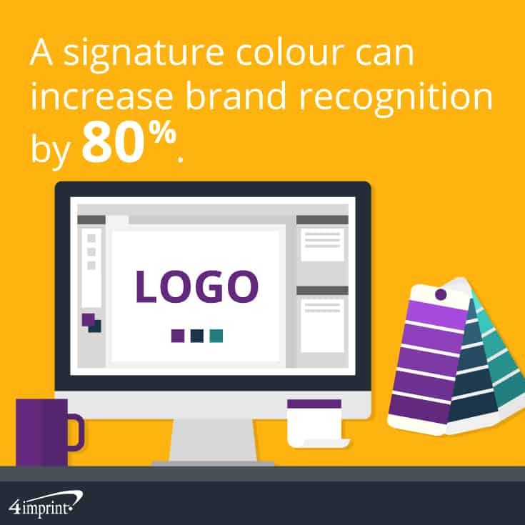 A signature colour can increase brand recognition by 80%. | 4imprint branded giveaways