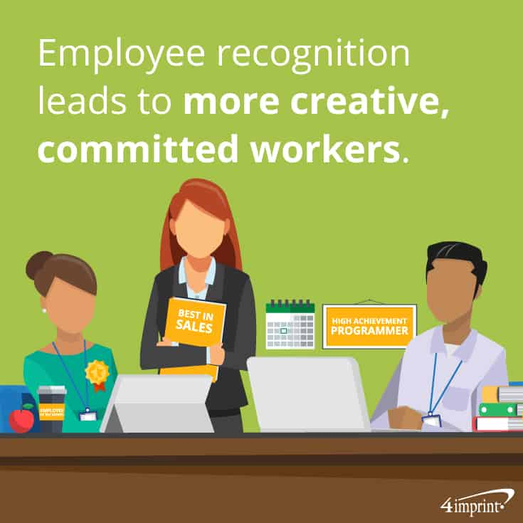Employee recognition leads to more creative, committed workers | Employee of the month gifts