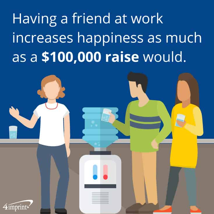 Having a friend at work increases happiness as much as a $100,000 raise would. These company picnic gift ideas will let employees take time to make connections.