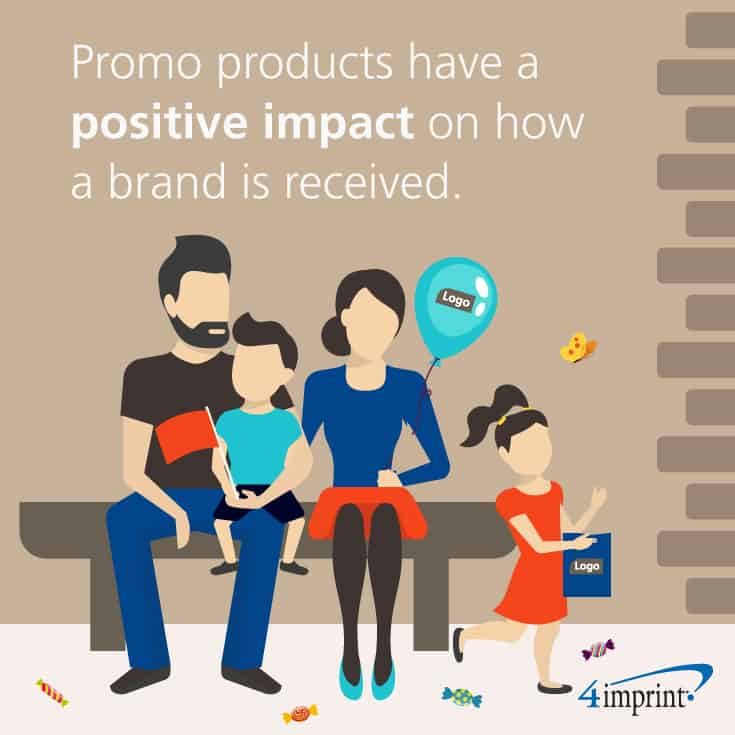 Promo products have a positive impact on how a brand is received.