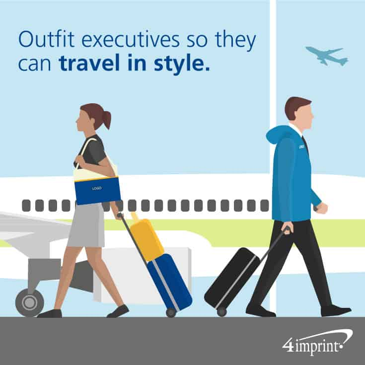 Outfit executives so they can travel in style. Find executive promotional products at 4imprint.com