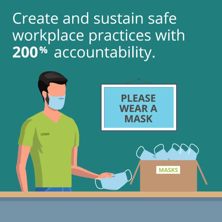Create and sustain safe workplace practices with 200% accountability.