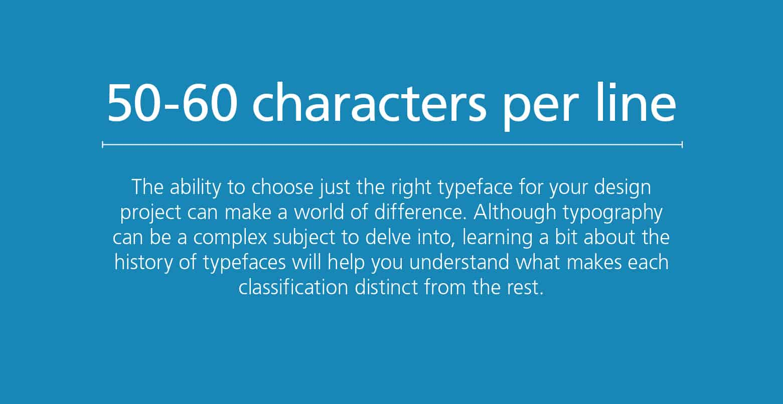 Graphic Design Tips: Keep copy to 50-60 characters per line