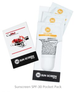 Sunscreen SPF-30 Pocket Pack - Golf Swag from 4imprint