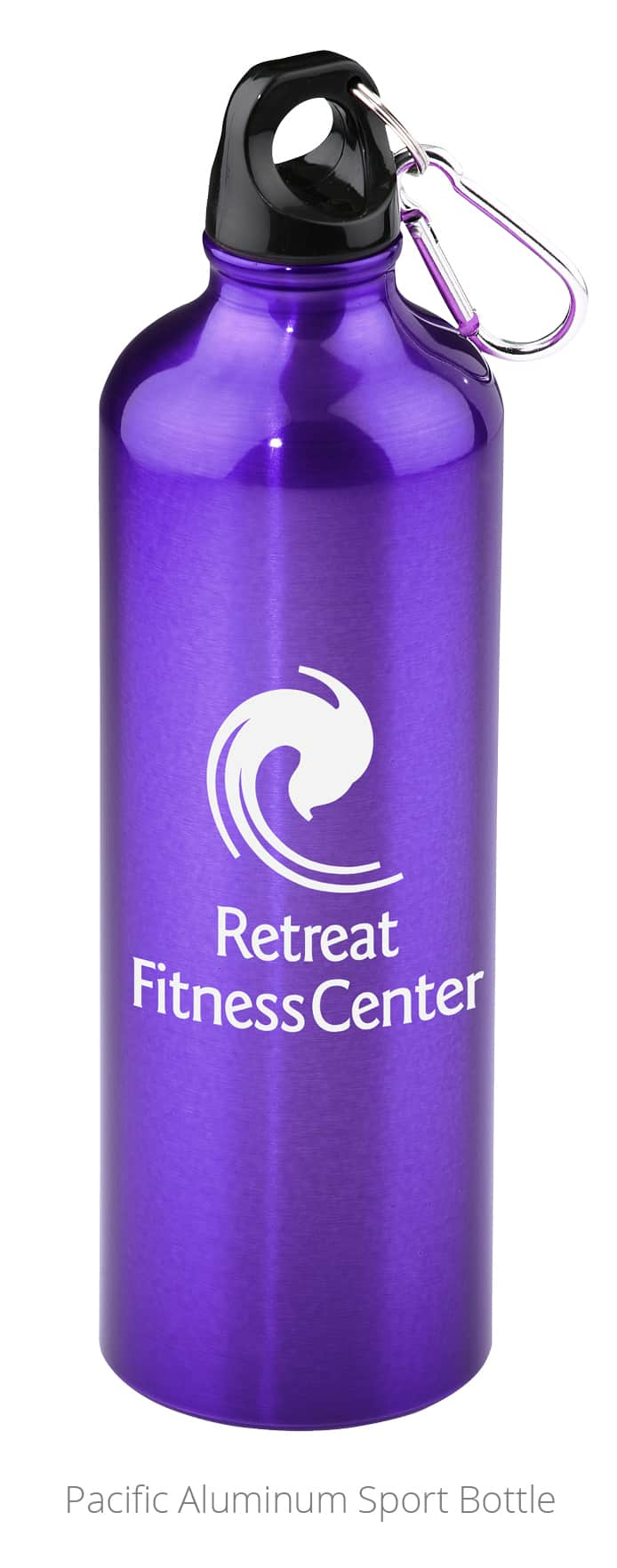 The Pacific Aluminum Sport Bottle is a thirst-quenching university promotional product.