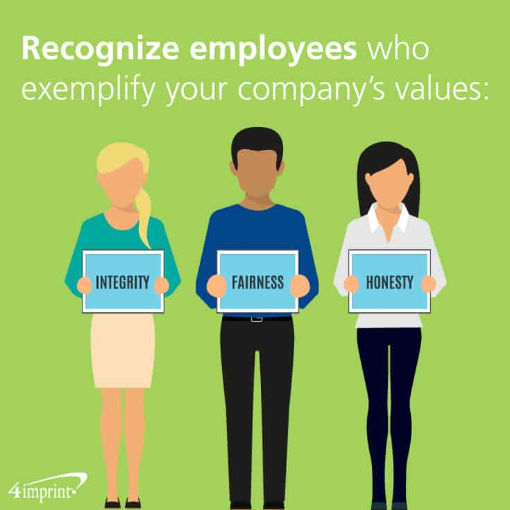 Honour employees who regularly exhibit behaviours representative of company values.