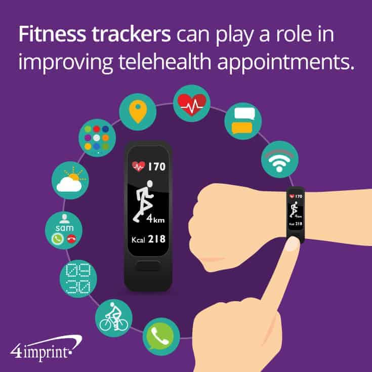 Fitness tracker on person's wrist