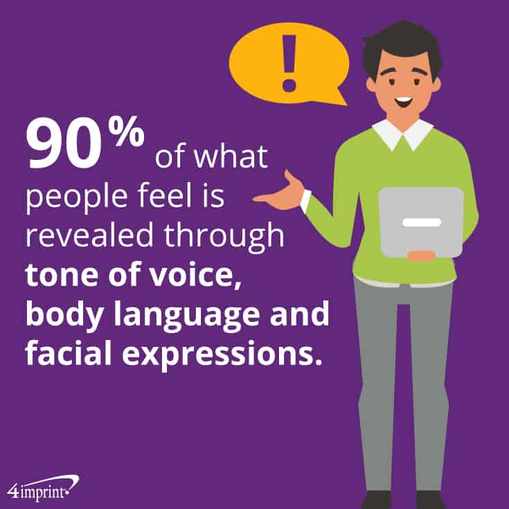 90% of what people feel is revealed through tone of voice, body language and facial expressions. Train your employees to spot these nonverbal cues and leave them with training giveaways to help them remember key tips.