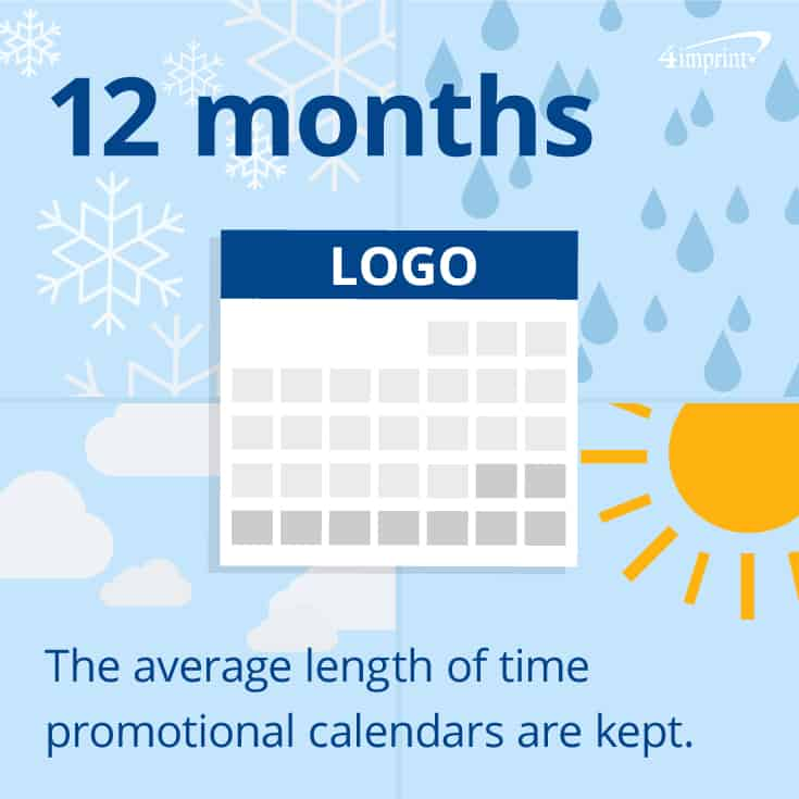 Promotional calendars are used for a whole year! Top trade show giveaways from 4imprint.