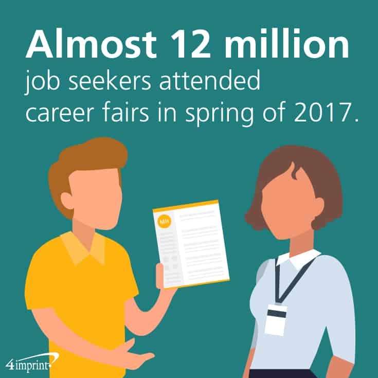 Almost 12 million job seekers attended career fairs in spring of 2017.