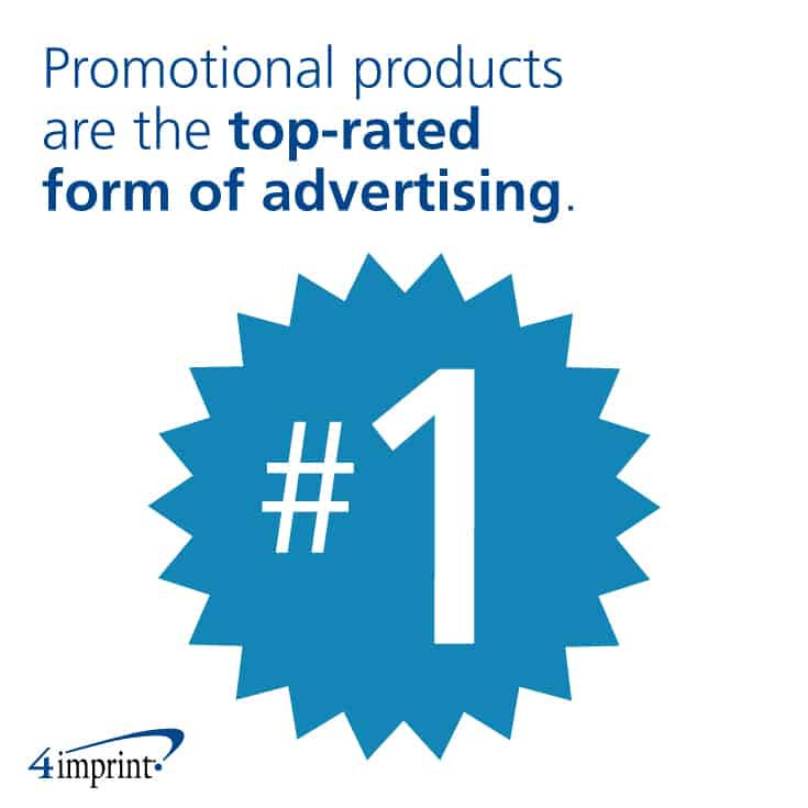 Promotional products at the top-rated form of advertising.