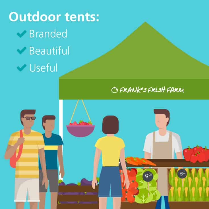 Outdoor event tents are attractive and purposeful.