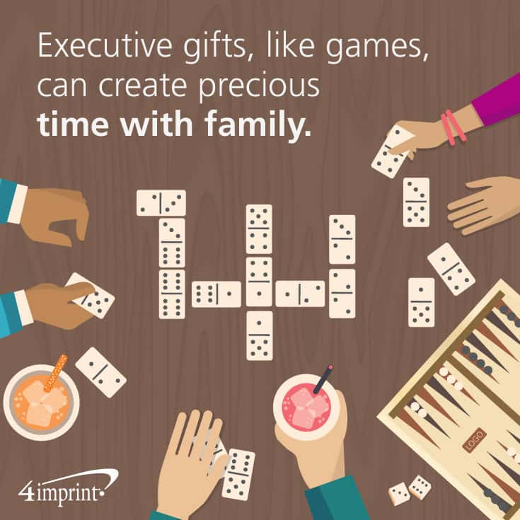 Executive gifts, like games, can create precious time with family. Find executive promotional products at 4imprint.com