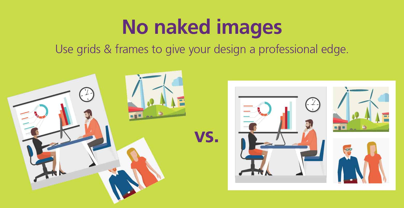 Graphic showing naked images versus non-naked images