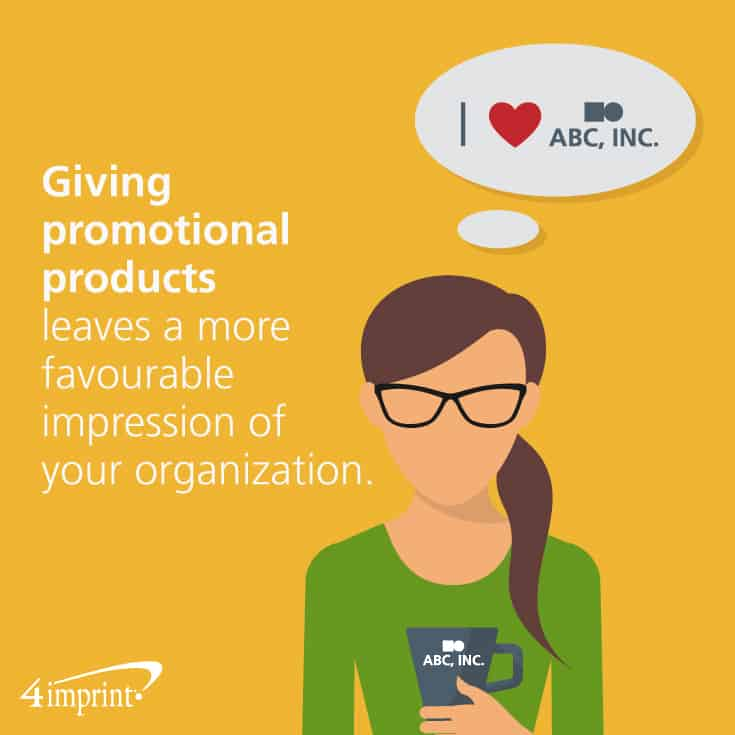 More than half the time, promotional products leave a favourable impression.