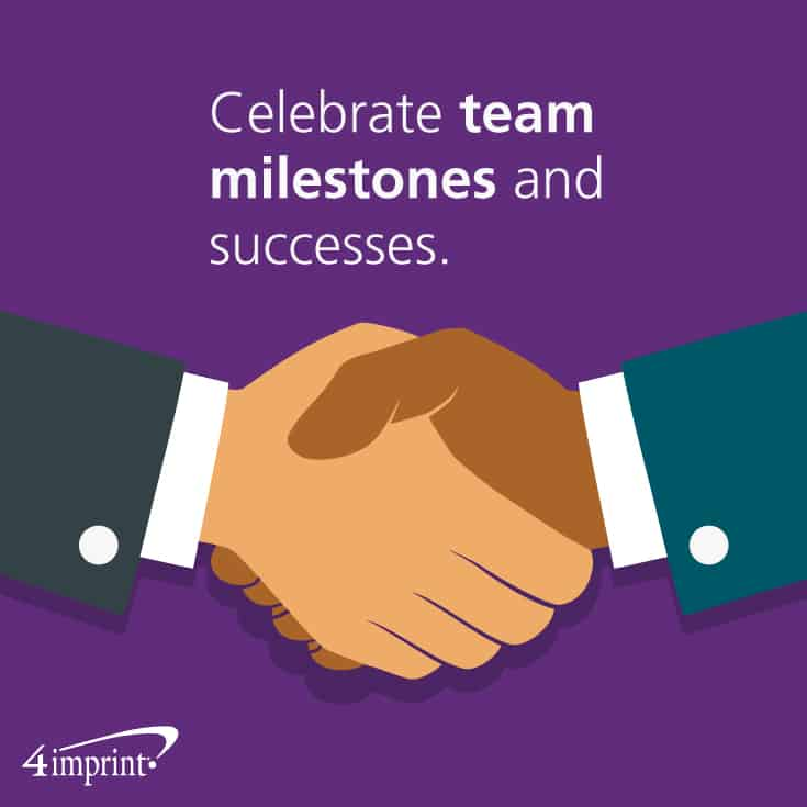 Celebrate team milestones and successes