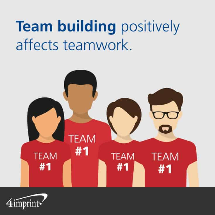 Team building positively affects teamwork. Use meeting giveaways in team building activities.