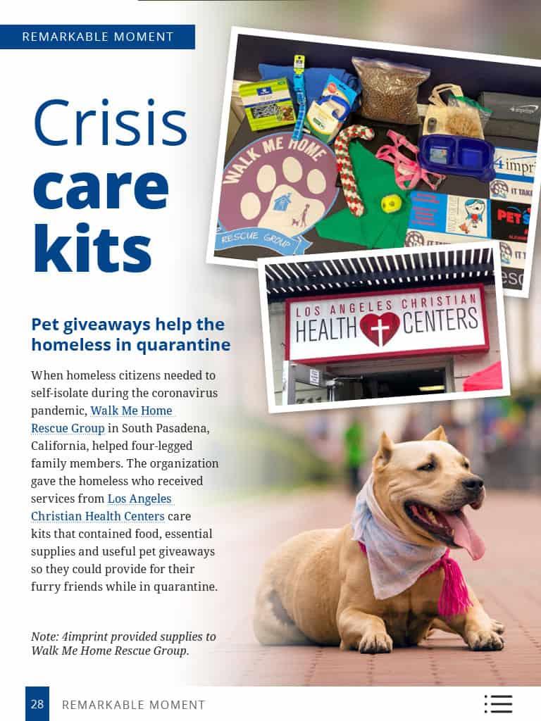 Thumbnail image of Remarkable Moment story: Crisis care kits