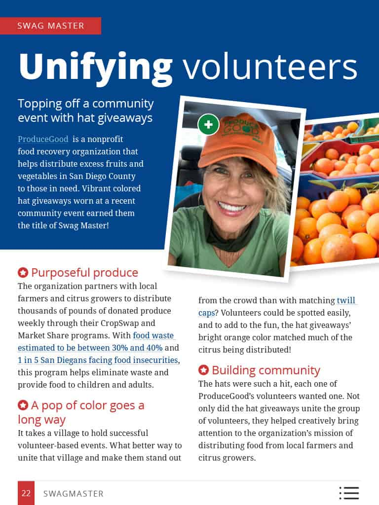 Thumbnail image of Swag Master story: Unifying Volunteers