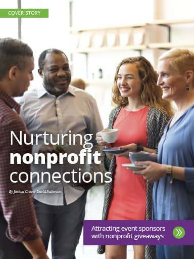 Screen Shot of Cover Story: Nurturing nonprofit connections - ideas for memorable giveaways