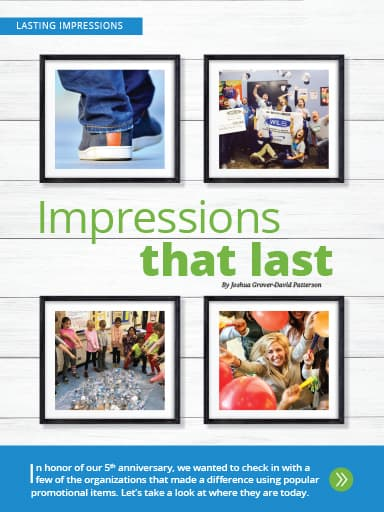 screen shot of Lasting Impression story: A look back over 5 years - memorable giveaways