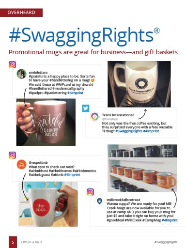 Screen Shot of Overheard story: Promotional mugs are a top giveaway item for business