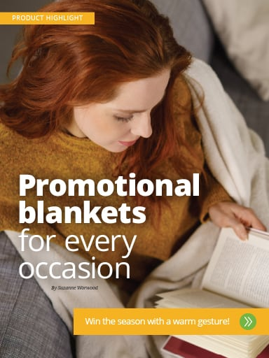 Screen shot of Product Highlight story: Promotional blankets for every occasion - memorable giveaways