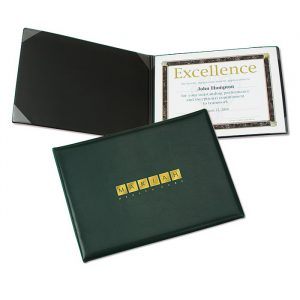 Padded Certificate Holder - custom awards from 4imprint promotional products