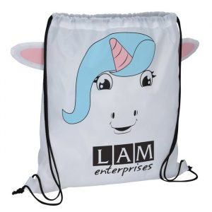 Paws and Claws Sportpack Unicorn - Promotional drawstring bag