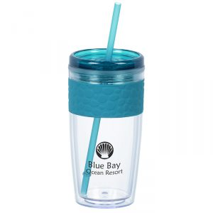 Pebble Tumbler with Straw - 16 oz.