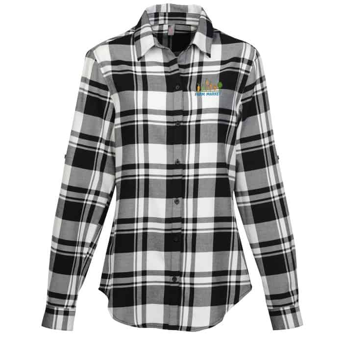Plaid Flannel Shirt – Ladies' | Company apparel from 4imprint.