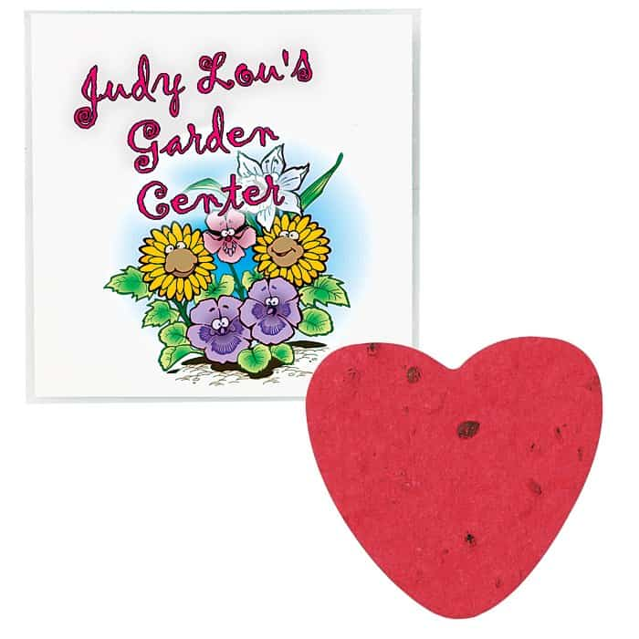 Plant A Shape Flower Seed Packet Heart | Custom-printed seed packets from 4imprint