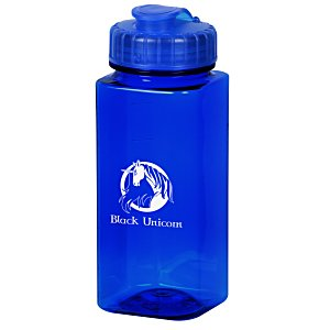 PolySure Squared-Up Water Bottle with Flip Lid | 4imprint promotional water bottle giveaways.