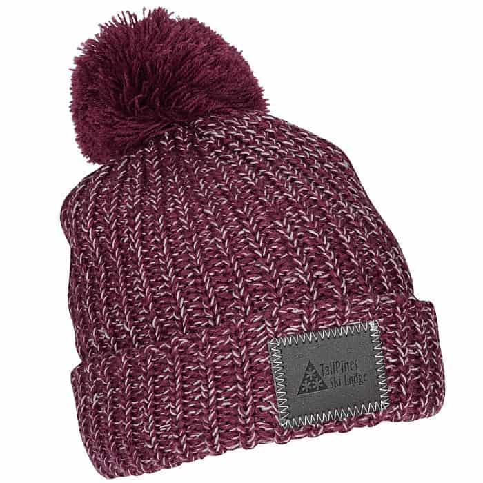 Pom-Pom_Patch_Beanie_with_Cuff – a great custom winter hat with pom.