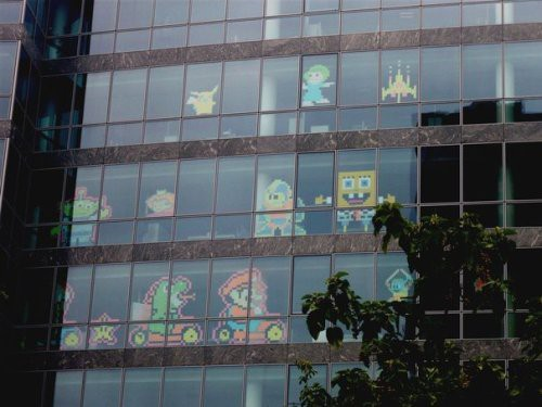 Paris Post-it Window Wars