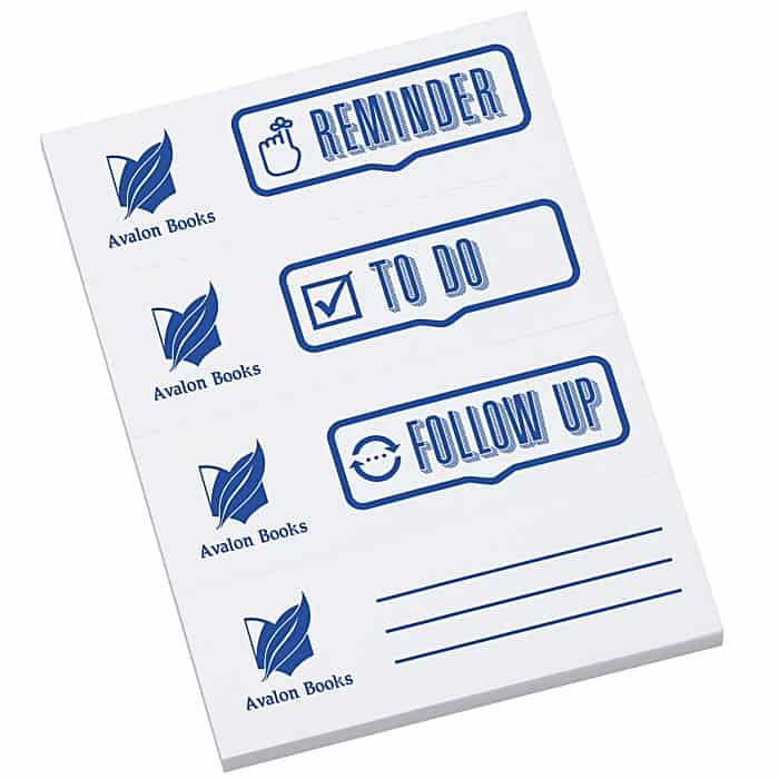 Post-it® Custom Page Markers – Reminder is one of our unique notepads.