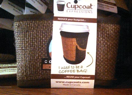 Recycled Coffee Bag Sleeve at Copper Rock