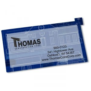 Repositionable Sticker Business Card - personalized business stickers from 4imprint