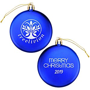 Satin Flat Ornament - Merry Christmas | 4imprint promotional ornaments.
