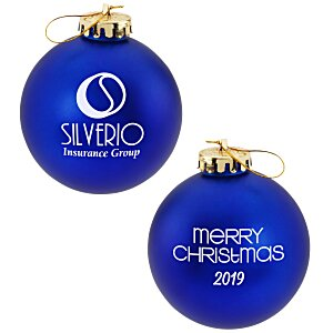 Satin Round Ornament – Merry Christmas | 4imprint promotional holiday ornaments.