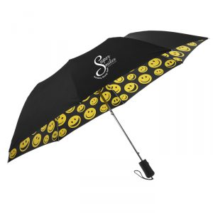 umbrella with smiley faces