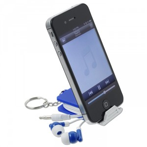 Spectra Ear Buds and Phone Stand - Promotional Product 129339 from 4imprint