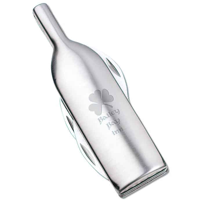 Wine Bottle Shaped Opener makes a lovely corporate holiday gift.