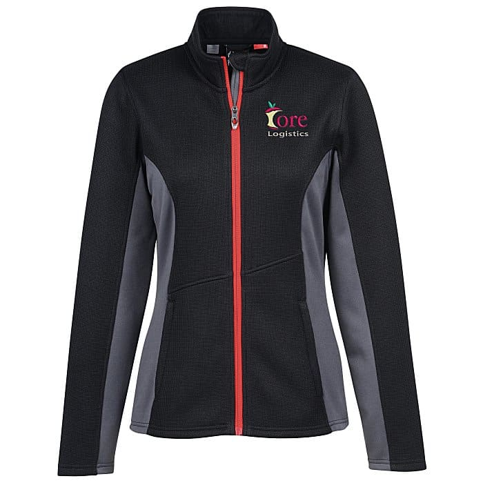 The Spyder Sweater Fleece Jacket Ladies is one of the new promotional items offered at 4imprint