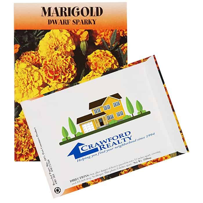 Standard Series Seed Packet Marigold | Custom-printed seed packets from 4imprint