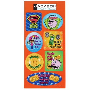 Super Kid Sticker Sheet Dollars and Cents | Promotional Products from 4imprint